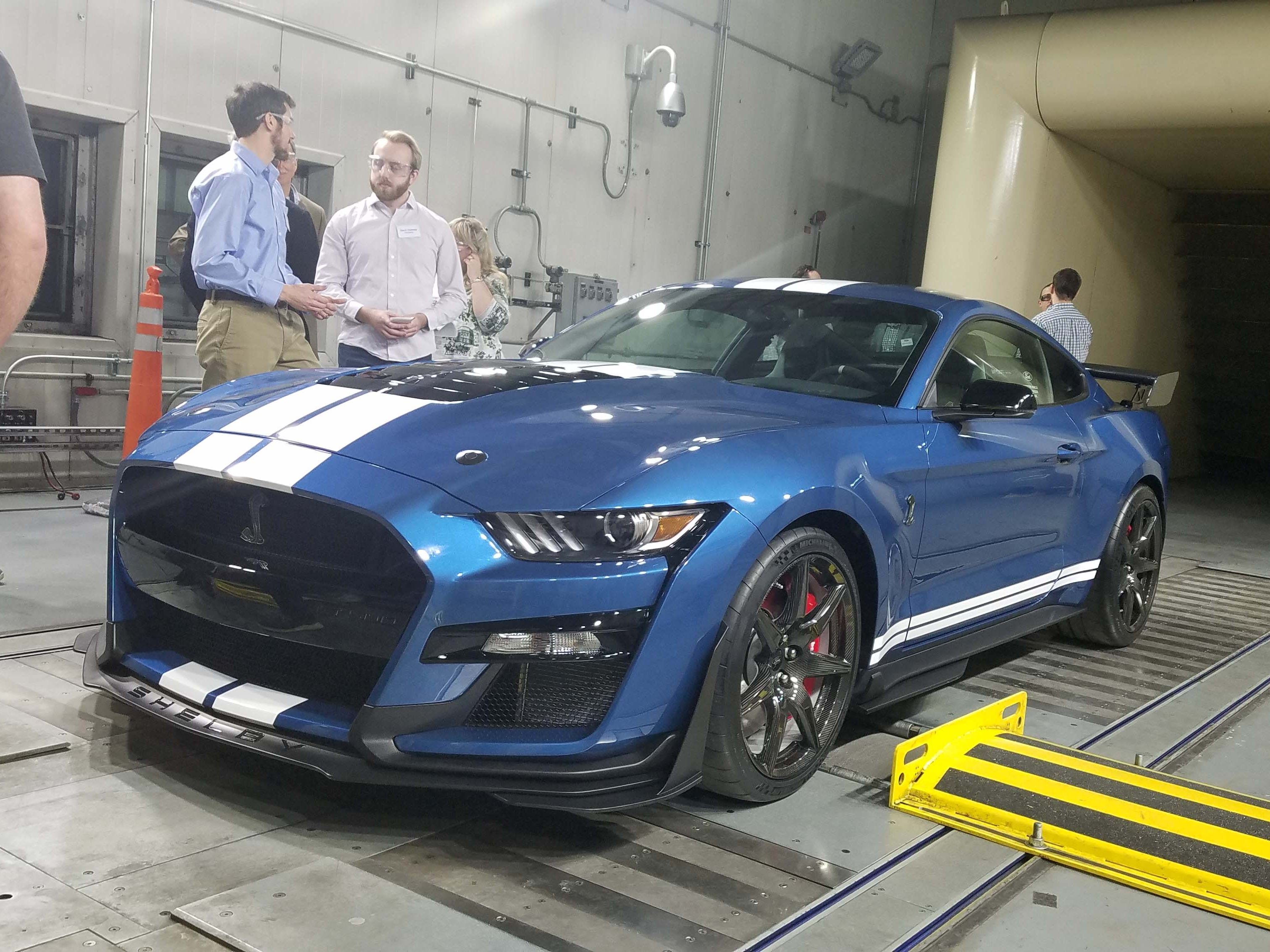 The Ford Mustang GT500 underwent extensive testing in wind tunnels (Ford's Allen Park tunnel pictured), supercomputers, and simulators before ever hitting the race track.
