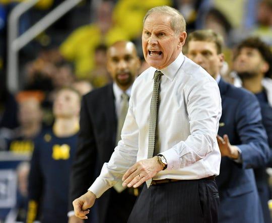 "Michigan head coach John Beilein was selected to receive the 2019 Coach Wooden ""Keys to Life"" Award."