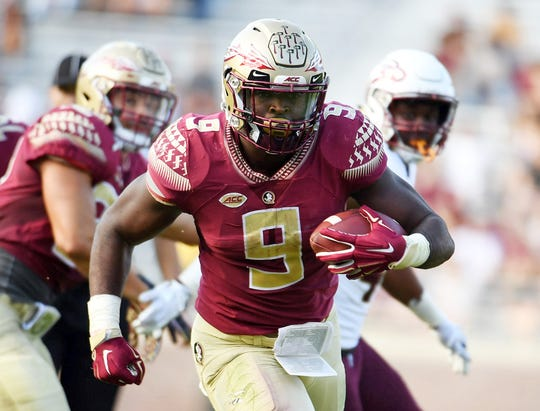 Florida State running back Jacques Patrick accumulated 378 rushing yards and three total touchdowns during the 2018 season.