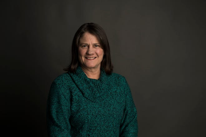 Fort Collins district six council member candidate Lori Brunswig poses for a portrait on Friday, March 8, 2019, at The Coloradoan in Fort Collins, Colo.