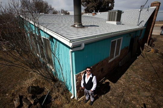 Alfonso Hinojosa's house in Fort Collins suffered hail damage.