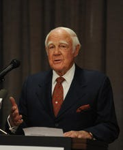 Jerry Dempsey, former Greenville Health System chairman and philanthropist, speaking in March 2014.