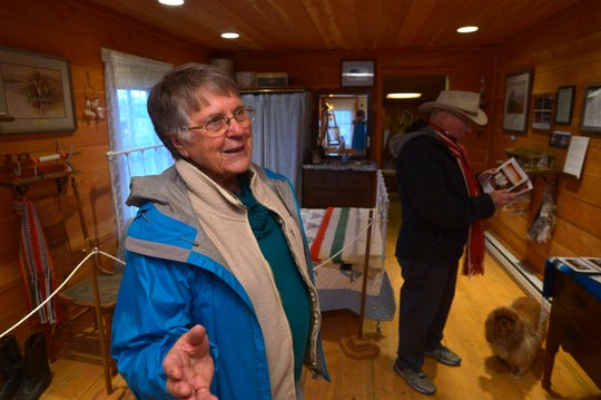 """Ida Johnson, a local historian, talks about the orgin of Charles M. Russell's """"Honeymoon Cabin"""" located  in Cascade."""