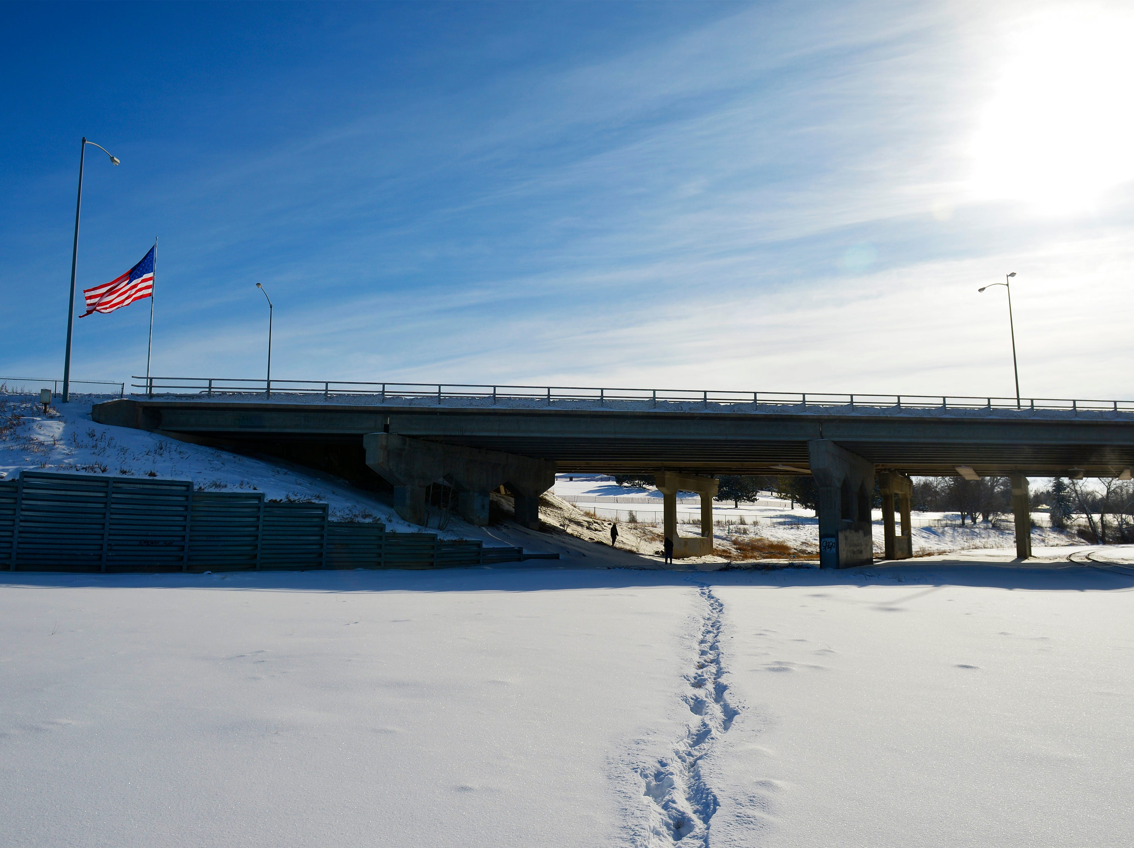 The 10th Avenue South overpass is sometimes used as a campsite for the homeless in Great Falls.