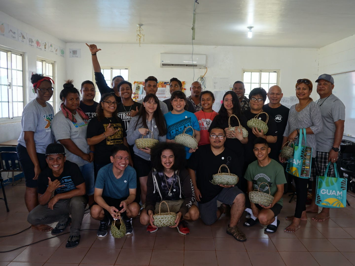 "The Southern High School Jazz Combo aka ""Southern Variety"" recently returned March 3 after a four day tour of Yap Island that included a Music exchange, workshop, cultural exchange and performances. Performances included Yap High School, first annual Yap Youth Night and 51st annual Yap Day. Pictured are SHS band members:  YHS music club students, Teresa Filepin FSM consul general with Husband, John Tamgin YHS principal, Francis Manglay YHS vice principal and Larry Franquez SHS band director."