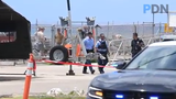Local and federal law enforcement agencies respond suspicious device found outside the Guam Fire Department Rescue Base, at the Agat Marina compound on Tuesday, March 12, 2019.