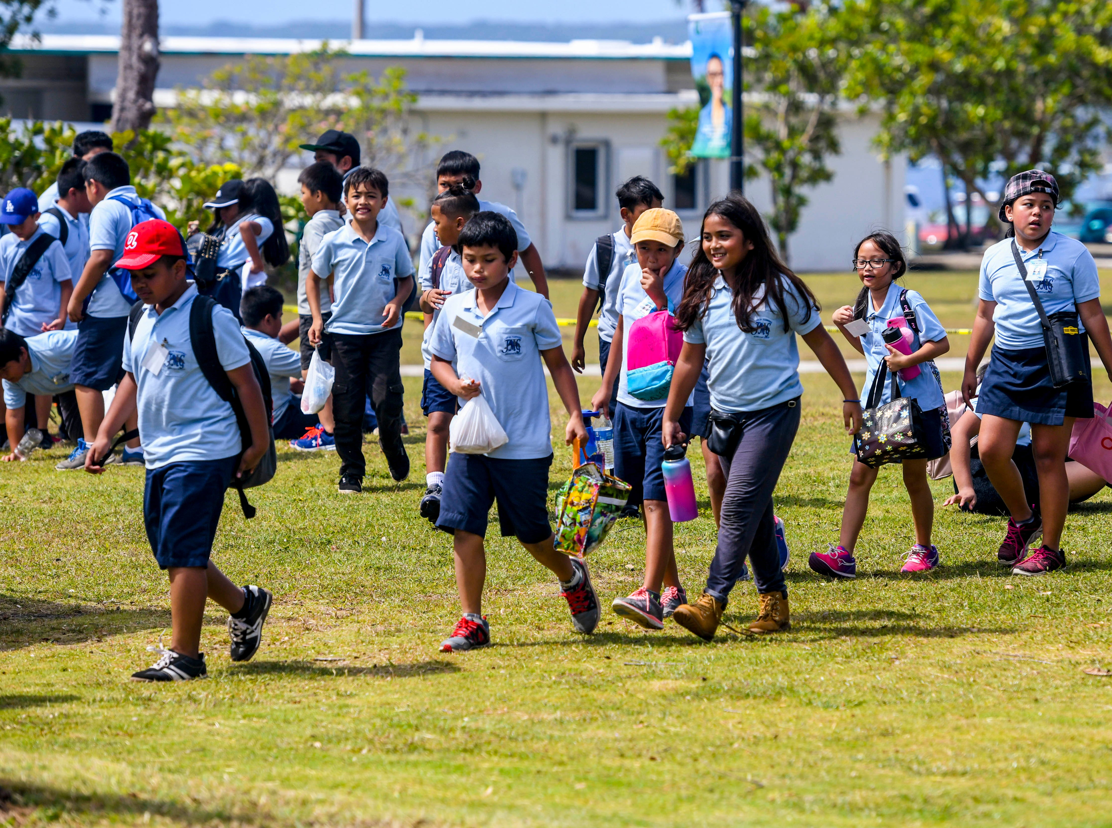 Visiting school student, families, attending students and others, came out to Mangilao to join the celebration of the University of Guam's 51st Charter Day on Tuesday, March 12, 2019.
