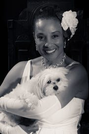 """Monica Cantrell will play Billie Holiday in """"Lady Day at Emerson's Bar and Grill."""" Zoe is playing Holiday's dog Pepe. It is being produced by the Fonseca Theatre Company at the Linebacker bar."""