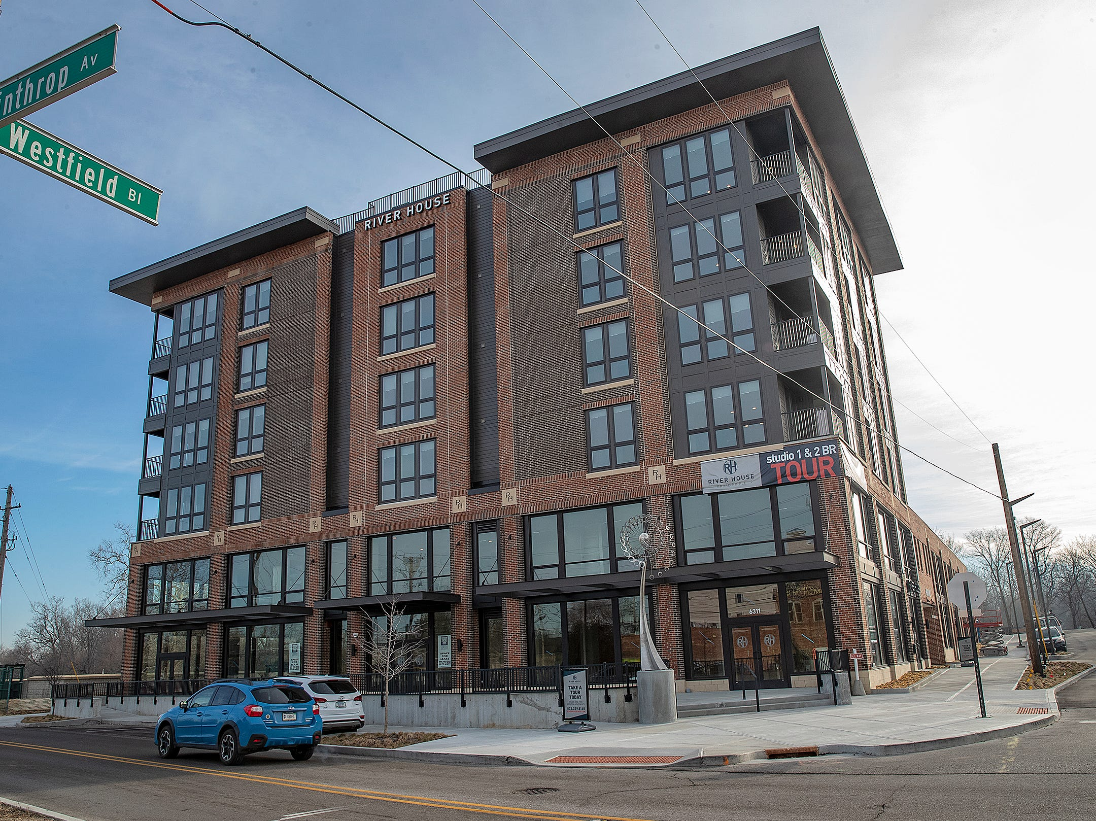 The River House features studio, 1 and 2 bedroom new apartment homes in Broad Ripple on Tueday, March 12, 2019. Located in the heart of Broad Ripple right on the Monon Trail and White River.