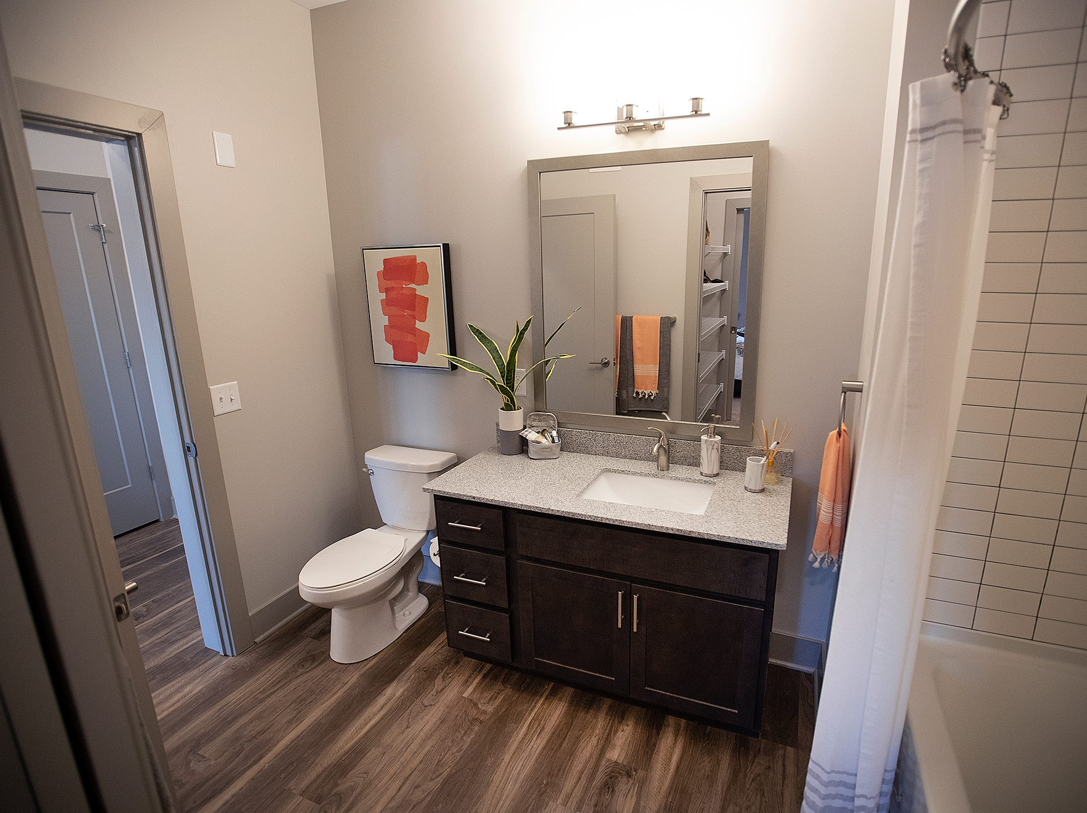 Here is the one bedroom apartment at the River House.The River House features studio, 1 and 2 bedroom new apartment homes in Broad Ripple on Tueday, March 12, 2019. Located in the heart of Broad Ripple right on the Monon Trail and White River.