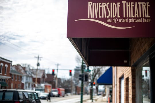 Riverside Theatre is pictured on Tuesday, March 12, 2019, at 213 N Gilbert Street in Iowa City, Iowa.