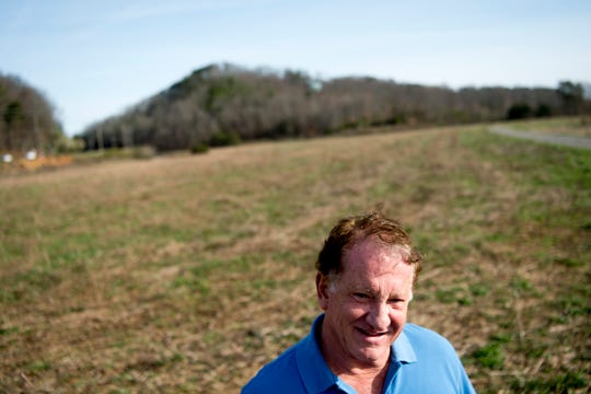Joe Hollingsworth, president of the Hollingsworth Foundation, visits the site of the future Aspire Park in Clinton, Tenn. on Tuesday, March 12, 2019. The Hollingsworth Foundation is looking to redevelop nearly 450 acres of land off Yarnell Road into a recreational park.