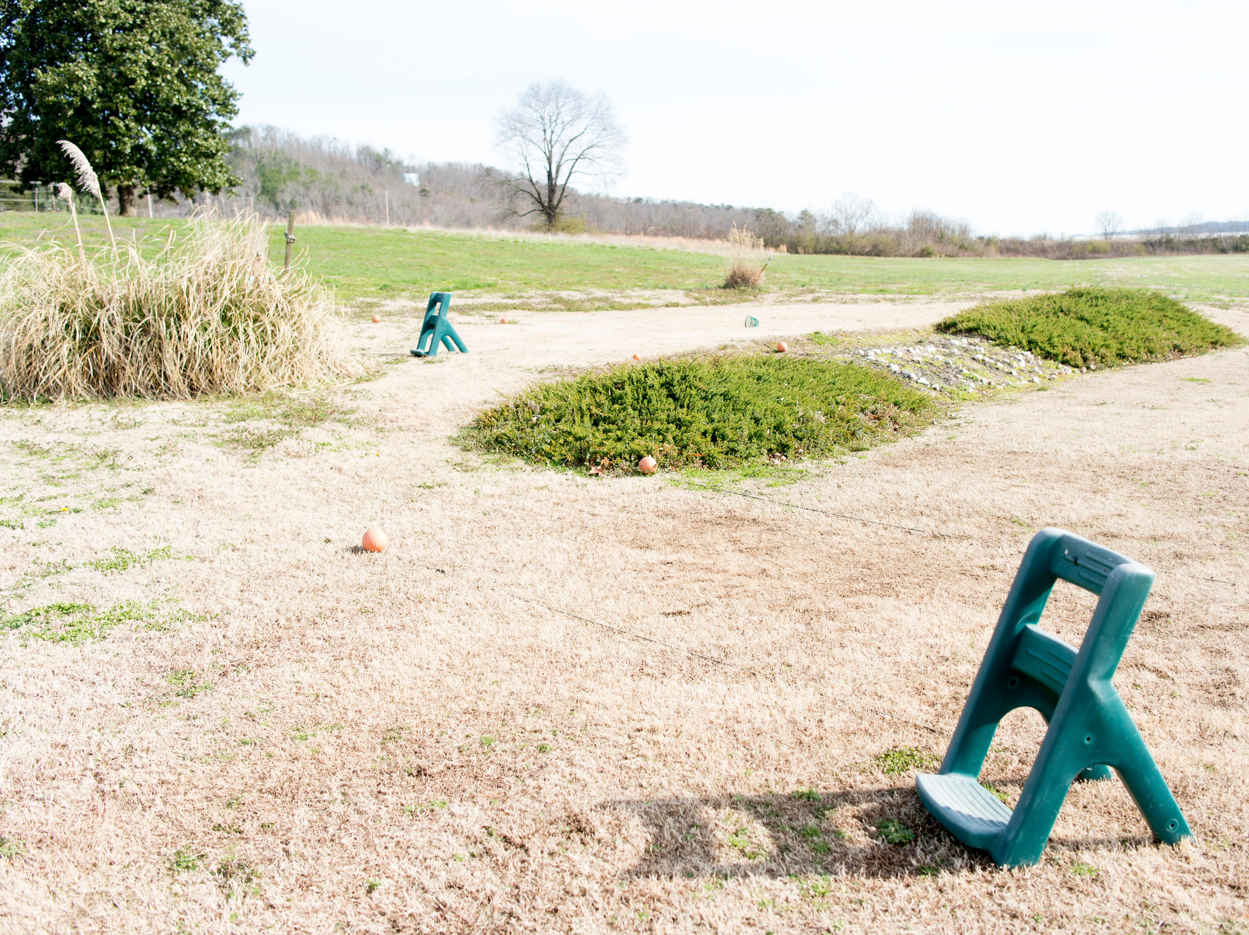 The Clinton Driving Range leases land on what will be the site of the future Aspire Park in Clinton, Tennessee on Tuesday, March 12, 2019. The Hollingsworth Foundation is looking to redevelop nearly 450 acres of land off Yarnell Road into a recreational park.