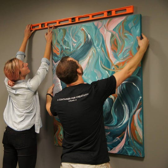 """BAREWalls"" aims to create a connection between local businesses and artist in Acadiana."