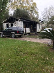 A home was heavily damaged in a fire early Tuesday morning. No one was severely hurt.