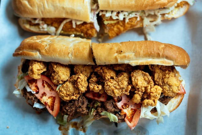 There are dozens of po'boys to choose from at the 2019 Acadiana Po-Boy Festival taking place in downtown Lafayette