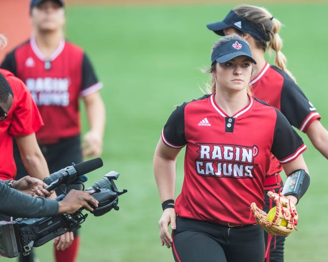 UL pitcher Summer Ellyson, shown here before a March 11 game against Baylor, recorded her 20th win of the season Sunday against Georgia Southern.