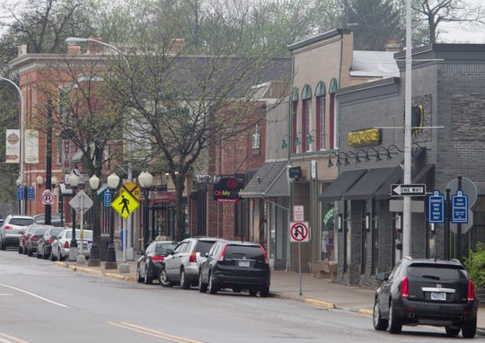 Businesses line Main Street in downtown Brighton. Residents do not want to pay to park in the downtown area, according to results released last week from a survey commissioned in the fall by the city.