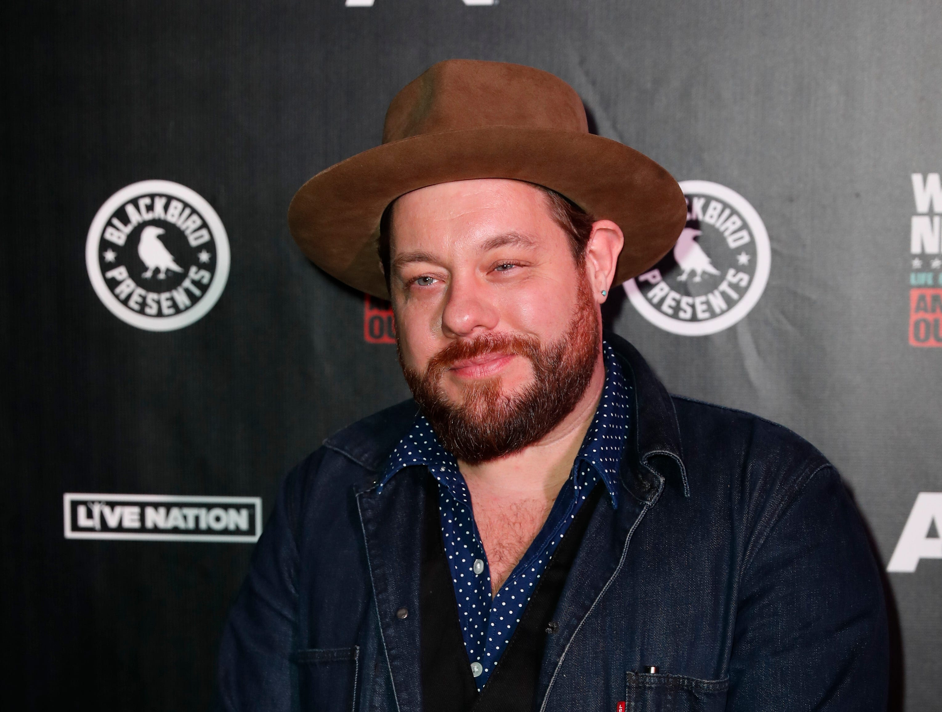 Nathaniel Rateliff arrives at Willie: Life & Songs Of An American Outlaw at Bridgestone Arena on Saturday, January 12, 2019, in Nashville, Tenn. (Photo by Al Wagner/Invision/AP)