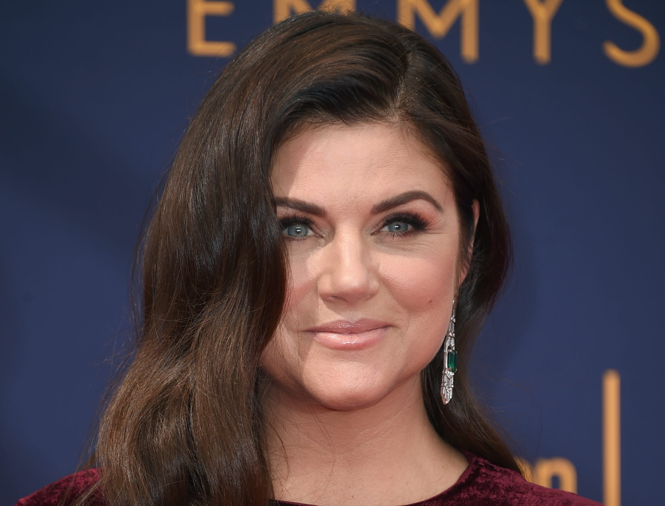Tiffani Thiessen arrives at night one of the Creative Arts Emmy Awards at The Microsoft Theater on Saturday, Sept. 8, 2018, in Los Angeles. (Photo by Richard Shotwell/Invision/AP)