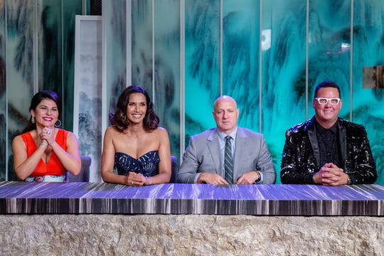 Judges Nilou Motamed, Padma Lakshmi, Tom Colicchio and Graham Elliot address the final contestants on episode 15 of 'Top Chef' Kentucky.