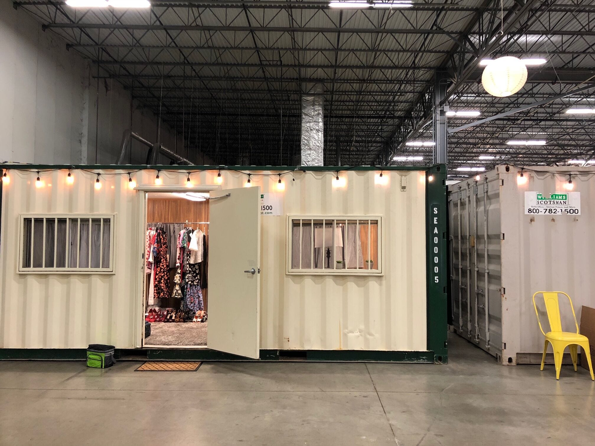 """Wardrobe trailers on the set of Bravo's """"Top Chef"""""""