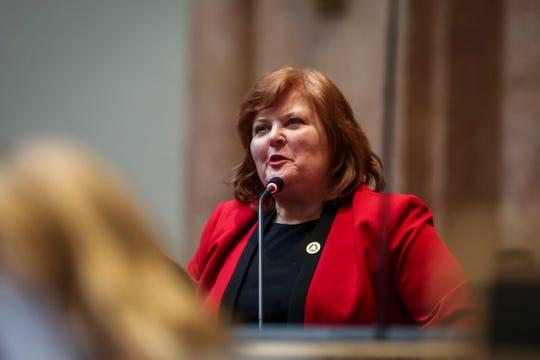 Louisville Democrat Joni Jenkins waselected floor leader of the House Democratic Caucus on Friday.