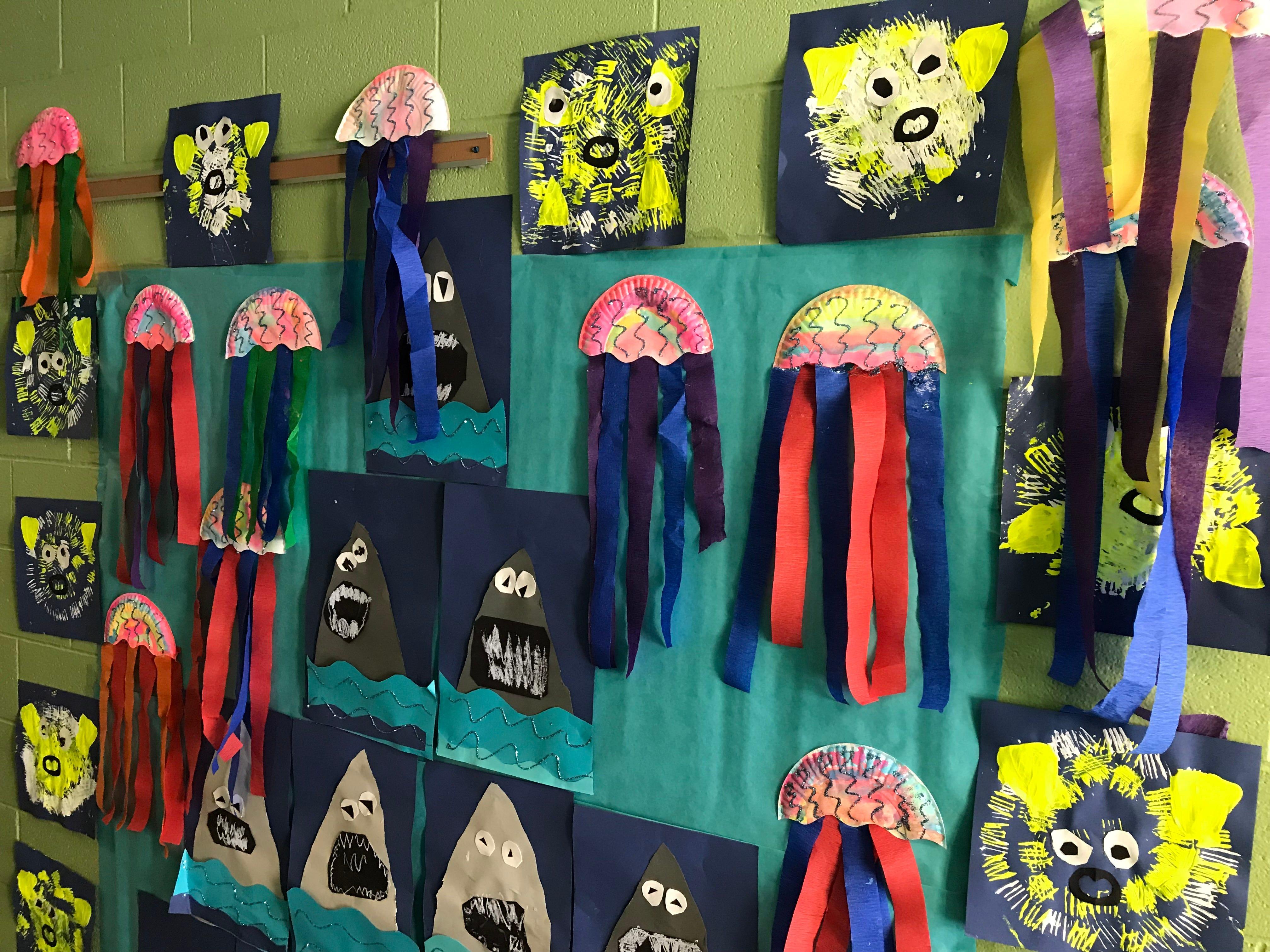 Kindergarten hallway at Riddle Elementary School in Lansing.