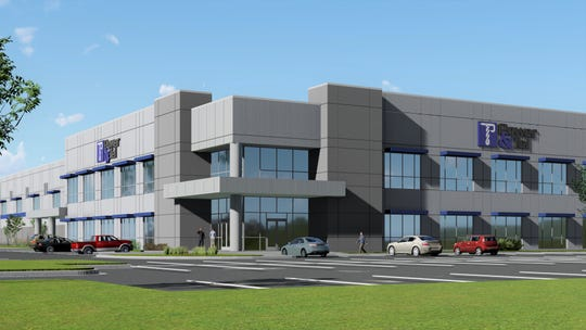 Rendering of Power & Tel's new world headquarters planned for Fayette County.