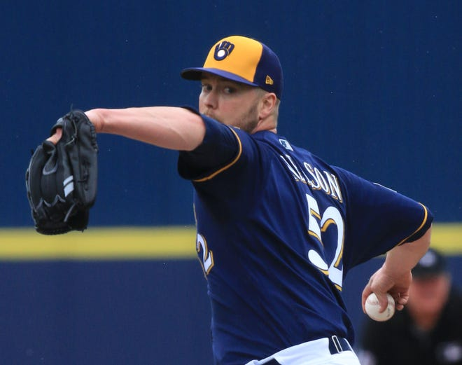 The Brewers reinstated Jimmy Nelson from the injured list and optioned him to Class AAA San Antonio as he continues his comeback from a torn rotator cuff.