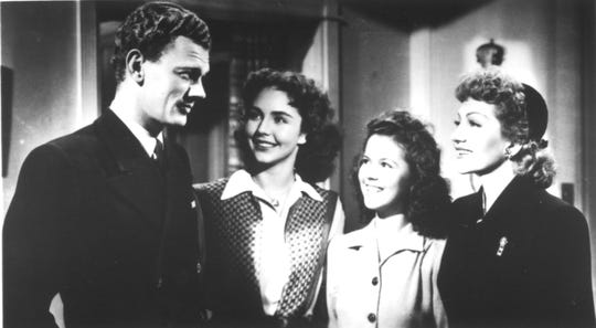 """The 1944 home-front drama """"Since You Went Away"""" stars Joseph Cotton (from left), Jennifer Jones, Shirley Temple and Claudette Colbert."""