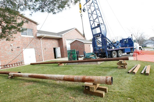 Well pipes are staged on the ground outside the water treatment plant in Waukesha for placement in this 2016 file photo. South Milwaukee plans to increase its water rates in part to pay for the creation of two above-ground wells.