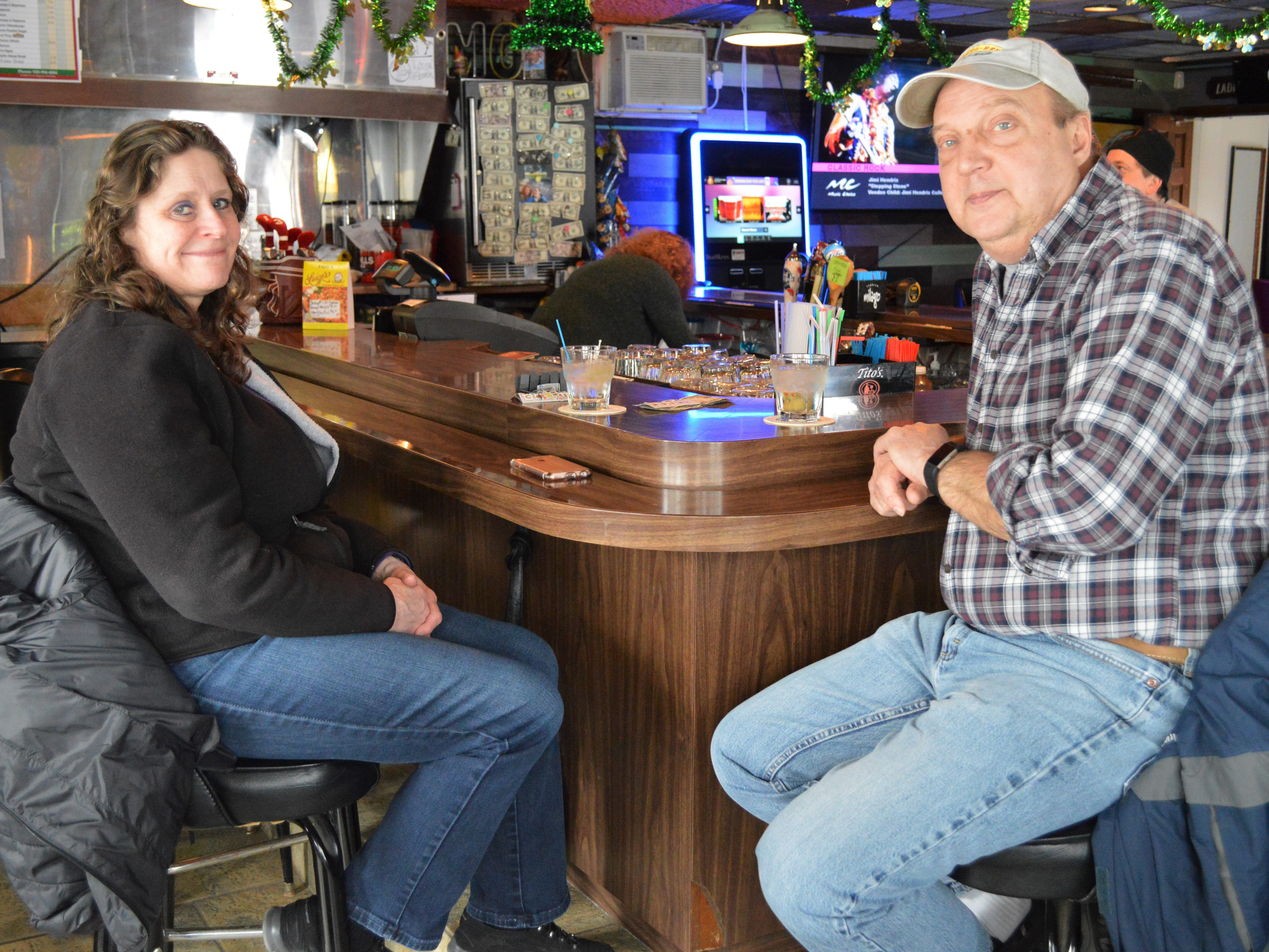 Customer Margie Hintz said Mary Pakula, owner of Mary's Caddyshack in New Berlin, is doing all the right things for the bar. Margie and her husband, Greg, are regulars.