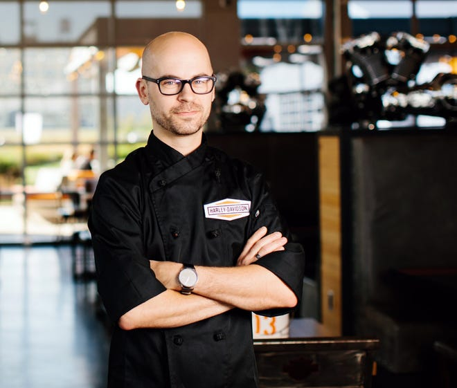 Jed Hanson has been chef at Motor Restaurant at the Harley-Davidson Museum since late last summer.