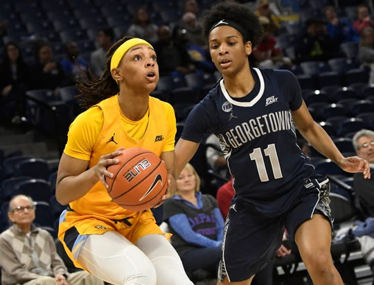 Being a taller guards makes Marquette guard Allazia Blockton a viable WNBA prospect.