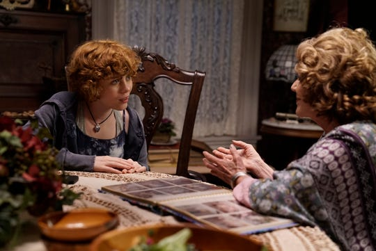 """Nancy Drew (Sophia Lillis) decides to investigate the haunting of the home of her friend's Aunt Flora (Linda Lavin) in """"Nancy Drew and the Hidden Staircase."""""""