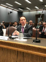 Republican Louisiana Attorney General Jeff Landry testifies before the House Administration of Criminal Justice Committee on Tuesday, March 12.