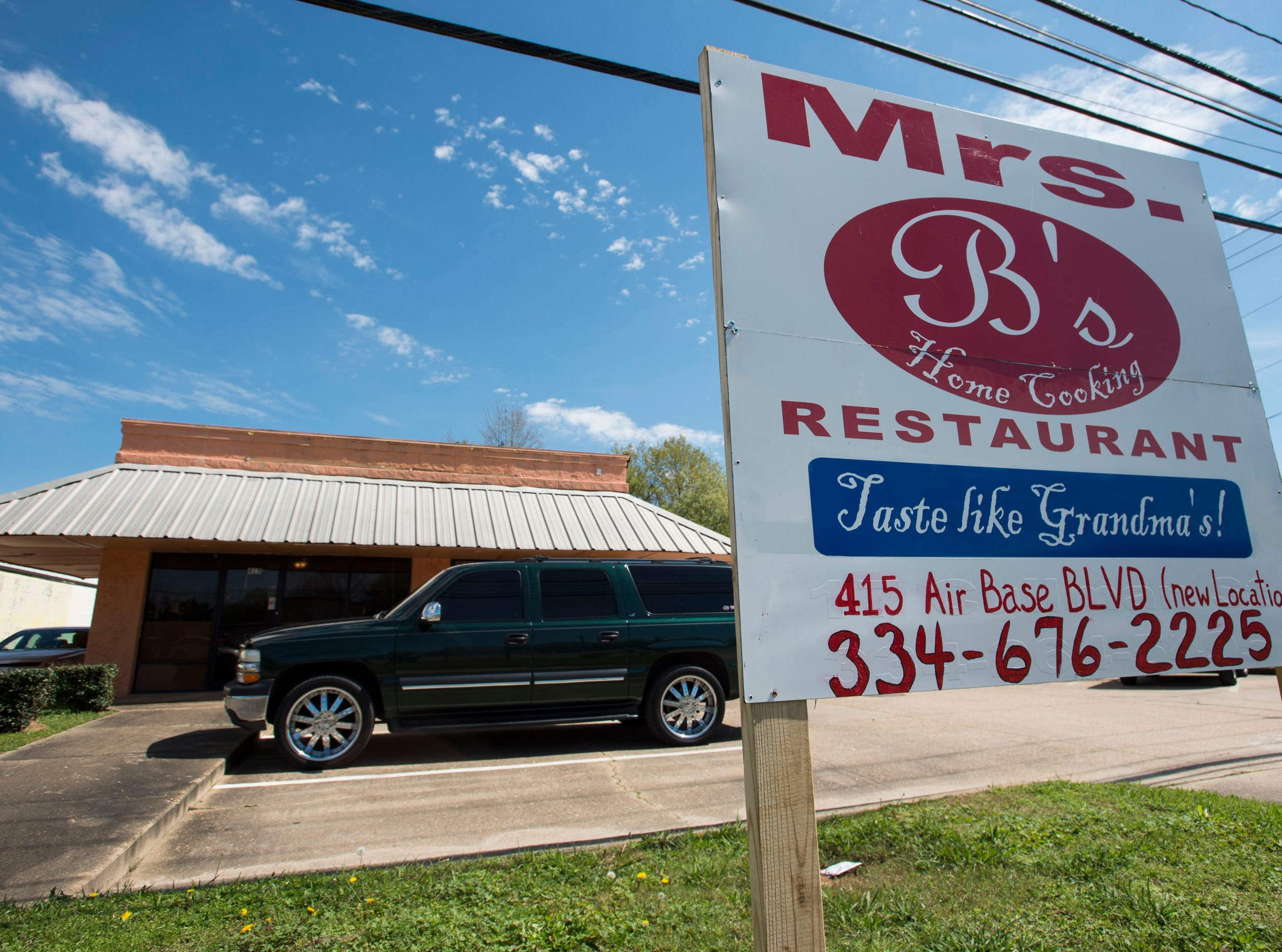Mrs. B's restaurant new location at 415 Air Base Blvd. in Montgomery, Ala., on Tuesday, March 12, 2019. The iconic home cooking restaurant's original location burned down in a Jan. 20th fire.