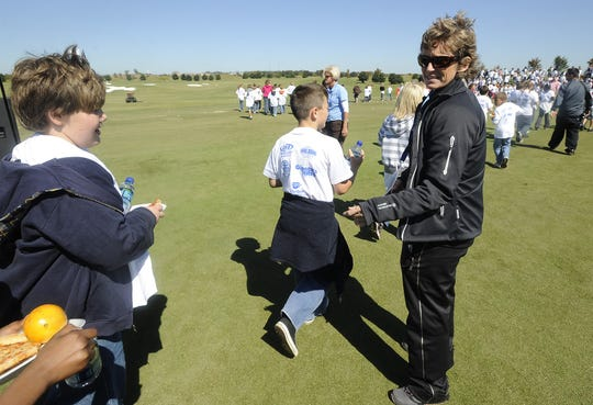 Selina Maddox directs children the Navistar LPGA Classic Junior Clinic on Tuesday October 5, 2010 at the Robert Trent Jones Golf Trail at Capitol Hill in Prattville, Ala.(Montgomery Advertiser, Mickey Welsh)