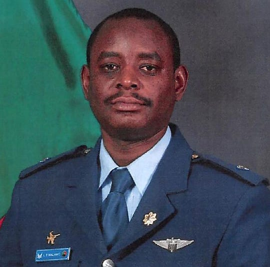 "Air University leadership, faculty and students joined together in Wood Auditorium for a memorial service honoring Zambian air force Maj. Bweendo ""Lloyd"" Malawo, who died March 2. He was struck by a car in Millbrook"