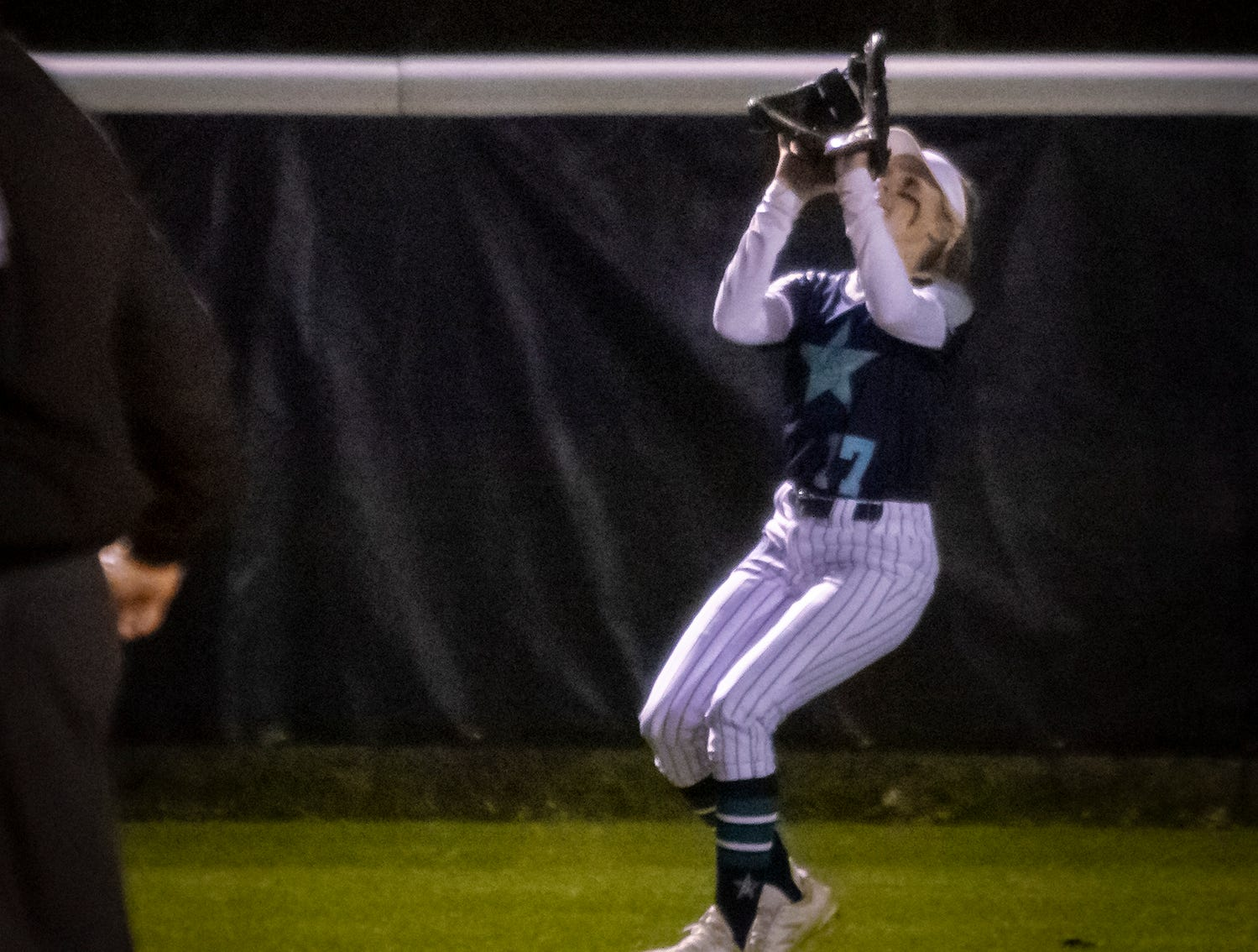 Siegel's Lexi Medlock makes a catch during Monday's win over Smyrna.