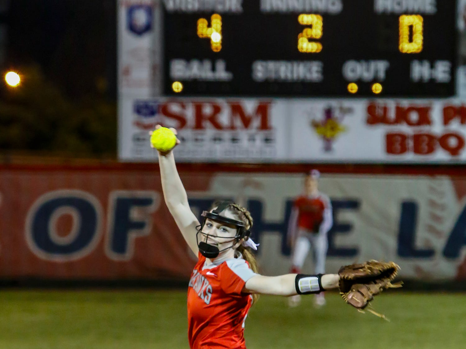 Stewarts Creek's Amber Lawson fires a pitch during Monday's game at Oakland.