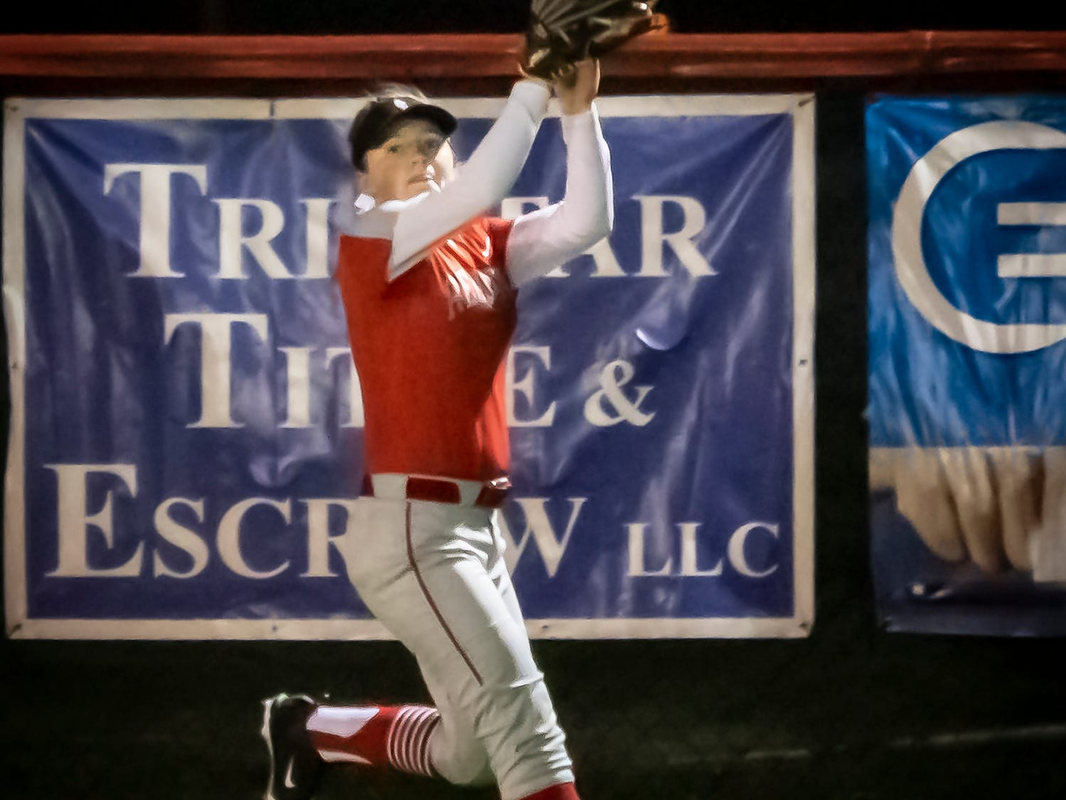 Stewarts Creek's Emily Pflueger makes a catch in right field during Monday's win at Oakland.