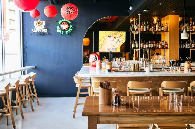 The bar at Bar Otaku.