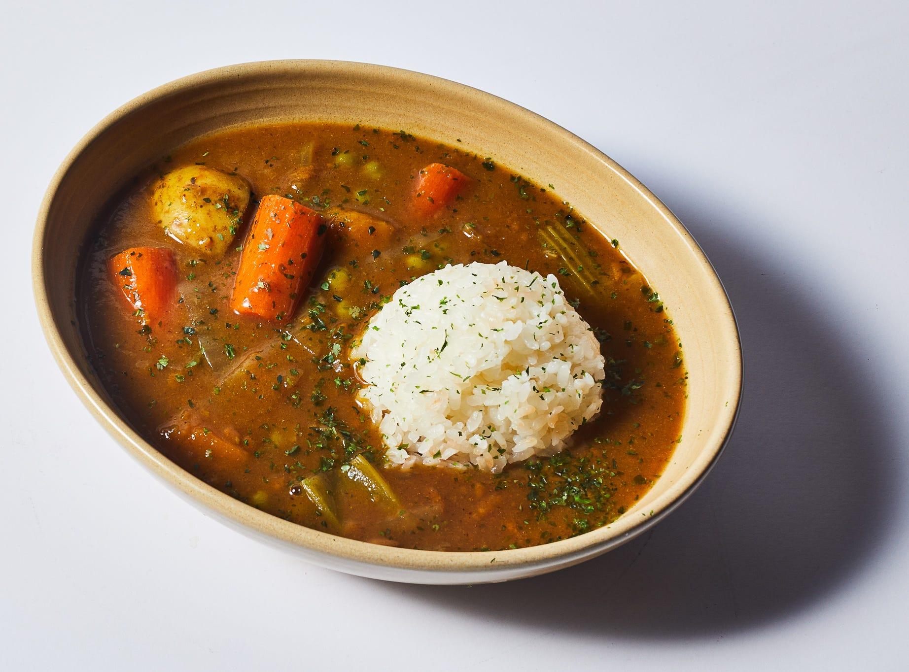 Vegetable curry at Bar Otaku.