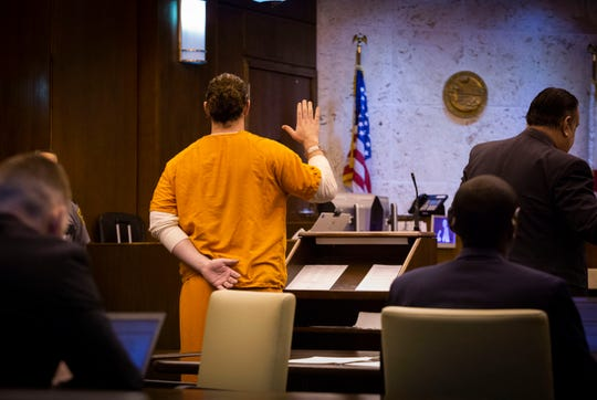 Brock Smith, the former Naples High School teacher accused of sex with a student, pleads no contest to some charges in front  of Collier Circuit Judge Ramiro Mañalich on Tuesday, March 12, 2019. A jury trial for his other charges is is pending.
