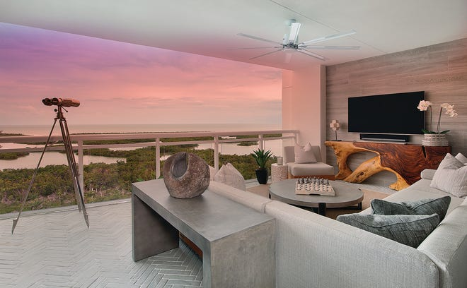The residences at Kalea Bay offer phenomenal views of the Gulf of Mexico.