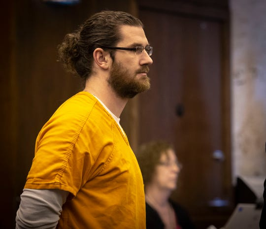 Brock Smith, the former Naples High School teacher accused of sex with a student pleads no contest to some charges in front of Collier Circuit Judge Ramiro Mañalich on Tuesday, March 12, 2019. A jury trial for his other charges is pending.