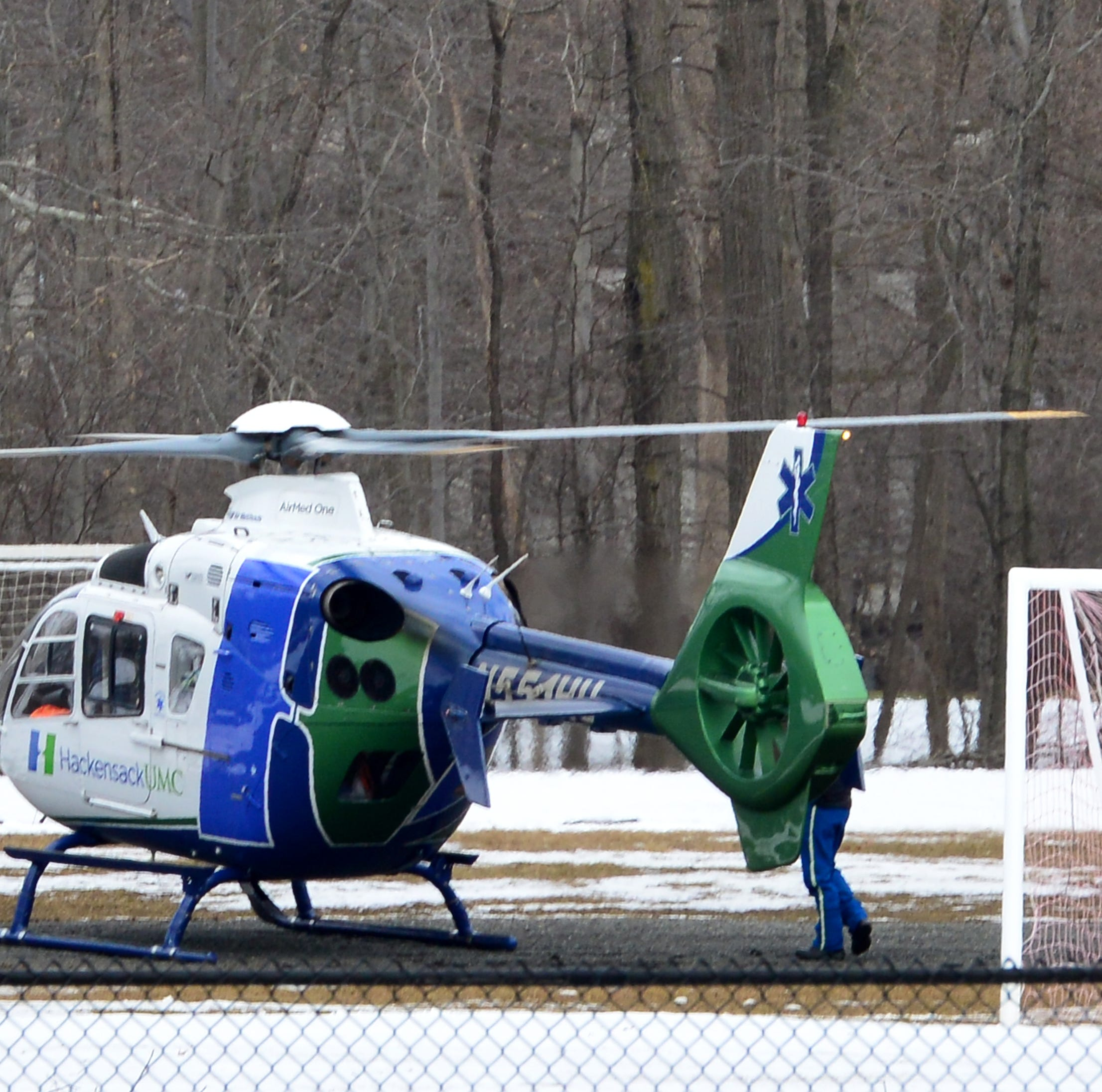One person airlifted after a pallet of slate bricks fell on him in Ramsey