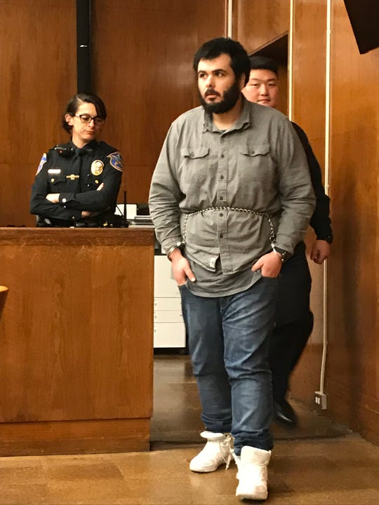 Jesus Lopez entering Superior Court in Hackensack on Tuesday, March 12, 2019.